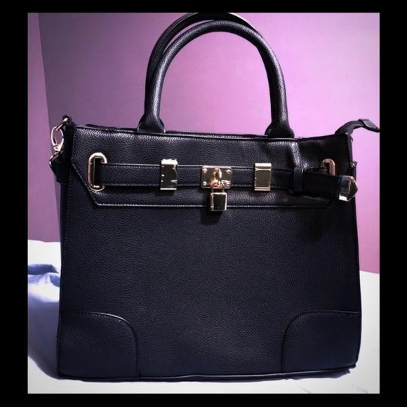 e233e743334a Black Shoulder laptop Bag with Long Strap